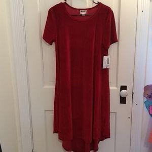 NWOT LulaRoe Red Midi Dress